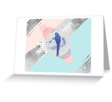 Abstract & bird Greeting Card