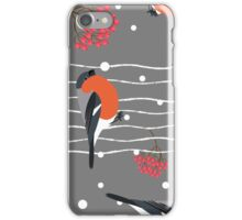 Gray holiday snow winter iPhone Case/Skin