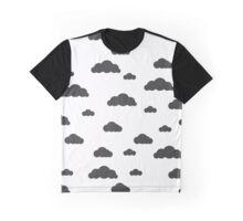 Black clouds on white Graphic T-Shirt