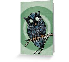 Evil Owl Greeting Card
