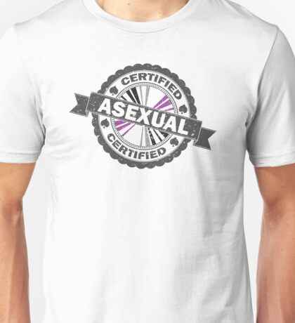 Certified Asexual Stamp Unisex T-Shirt