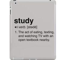 Funny Study Definition iPad Case/Skin