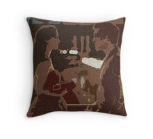 Three Words, Eight Letters Throw Pillow