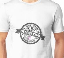 Certified Demisexual Stamp Unisex T-Shirt