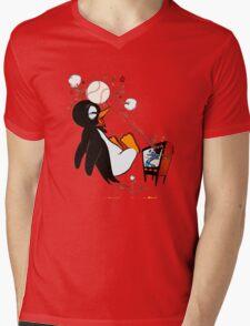 Penguin Baseball  Mens V-Neck T-Shirt