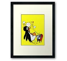 Penguin Baseball  Framed Print