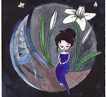 White Lily Moon Girl by Sorsha Morris