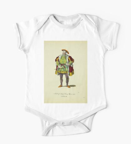 Habit of King Henry VIII in 1520 Le Roi Henry VII 360 One Piece - Short Sleeve