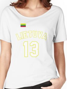 Sarunas Marciulionis 13 Lithuania Basketball Women's Relaxed Fit T-Shirt