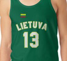 Sarunas Marciulionis 13 Lithuania Basketball Tank Top
