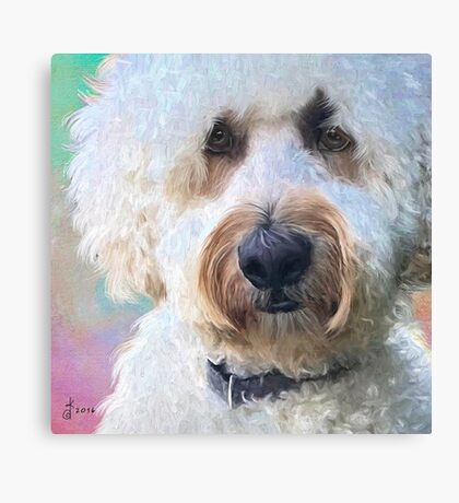 """""""Beau in Pastels"""" Canvas Print"""