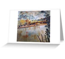 On the banks of the Goulburn River at Seymour VIC Australia Greeting Card