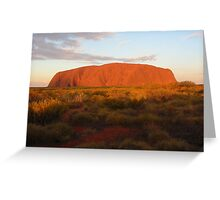 Sunset over Uluru - Northern Territory Greeting Card