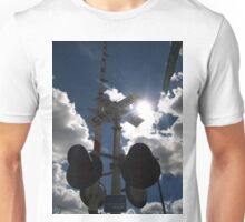 Sunburst Railroad Crossing Unisex T-Shirt