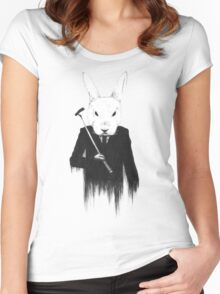 The White Rabbit Women's Fitted Scoop T-Shirt