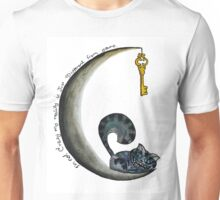 cheshire cat and moon Unisex T-Shirt