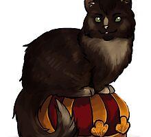 Crowley Cat on his Crown by fliff