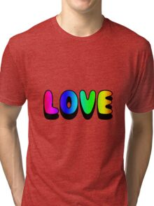 Love Sticker Rainbow Tri-blend T-Shirt
