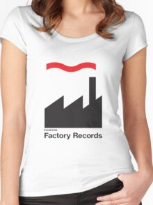 FACTORY RECORDS Women's Fitted Scoop T-Shirt