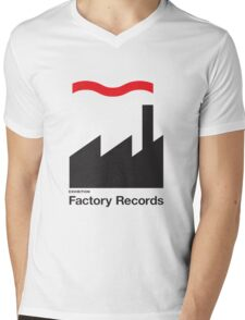FACTORY RECORDS Mens V-Neck T-Shirt