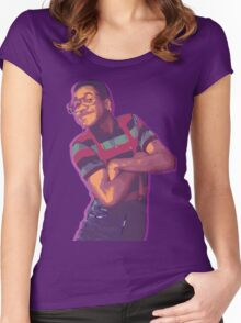 Purple Urkel - Weed Women's Fitted Scoop T-Shirt