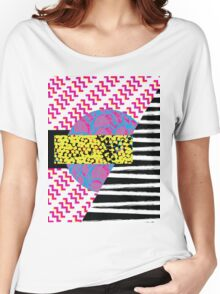 Abstract Pattern Collage Women's Relaxed Fit T-Shirt