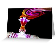 Head Trip - Orchid Alien Discovery Greeting Card