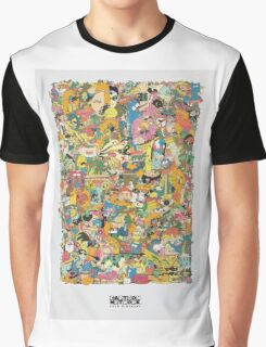 Cartoon Network Collage Graphic T-Shirt