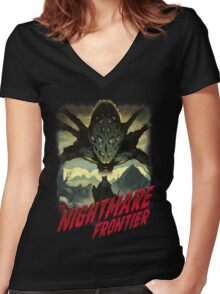 THE NIGHTMARE FRONTIER Women's Fitted V-Neck T-Shirt