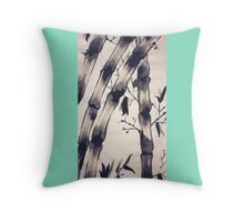 Bamboo Scroll Throw Pillow