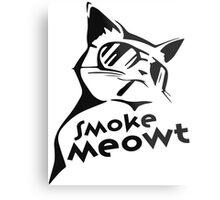 Smoke Meowt Metal Print