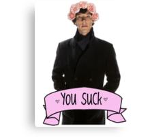 Tumblr Sherlock Canvas Print