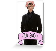 Tumblr Sherlock Greeting Card