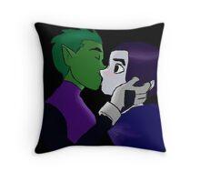 Teen Titans - Beast Boy and Raven Throw Pillow