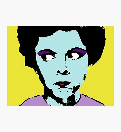 Pop Art - Any Warhol Inspired - Vintage Woman Photographic Print