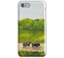Cows in a Pond iPhone Case/Skin