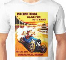 INTERNATIONAL GRAND PRIX; Vintage Auto Racing Print Unisex T-Shirt