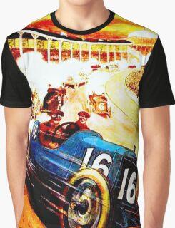 INTERNATIONAL GRAND PRIX; Vintage Auto Racing Print Graphic T-Shirt