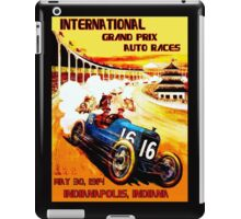 INTERNATIONAL GRAND PRIX; Vintage Auto Racing Print iPad Case/Skin