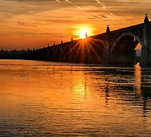 Bridge at Sunset by KellyHeaton