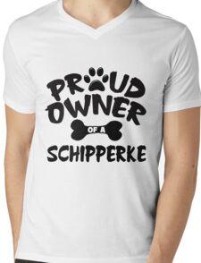 Proud Owner Of A Schipperke Mens V-Neck T-Shirt