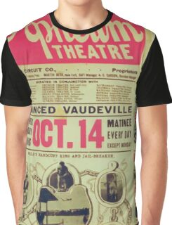 Performing Arts Posters Houdini nothing on earth can hold Houdini Fred Ray Co in an intensely funny Roman travesty 3062 Graphic T-Shirt