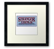 Stranger Things - Upside Down Blue Framed Print