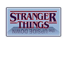 Stranger Things - Upside Down Blue Photographic Print