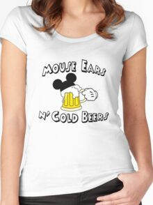 Mouse Ears and Cold Beers Women's Fitted Scoop T-Shirt