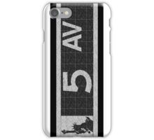 Fifth Avenue New York City Street Sign Deco Swing  iPhone Case/Skin