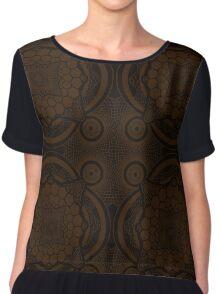 Brown Mandala Women's Chiffon Top
