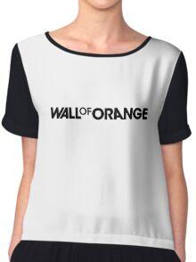 Wall Of Orange Logo Chiffon Top