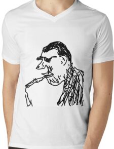 Hard Bop Jazz Man Mens V-Neck T-Shirt