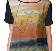 Tall Grass at Sunset Chiffon Top